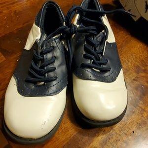 Boys toddler baby dress shoe oxford blue white 9C